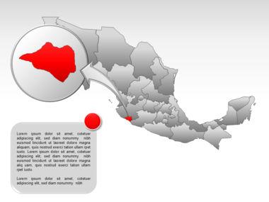 Mexico PowerPoint Map, Slide 29, 00030, Presentation Templates — PoweredTemplate.com