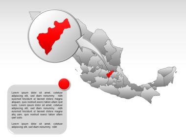 Mexico PowerPoint Map, Slide 30, 00030, Presentation Templates — PoweredTemplate.com