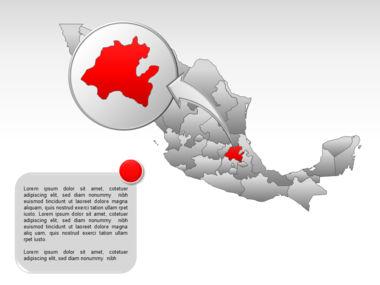 Mexico PowerPoint Map, Slide 31, 00030, Presentation Templates — PoweredTemplate.com