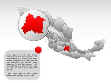 Mexico PowerPoint Map, Slide 32, 00030, Presentation Templates — PoweredTemplate.com