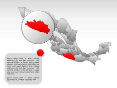 Mexico PowerPoint Map, Slide 33, 00030, Presentation Templates — PoweredTemplate.com