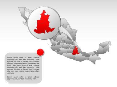 Mexico PowerPoint Map, Slide 34, 00030, Presentation Templates — PoweredTemplate.com