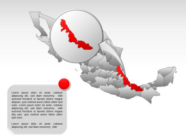 Mexico PowerPoint Map Slide 35