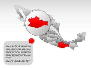 Mexico PowerPoint Map Slide 36