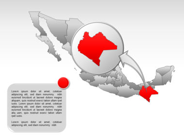 Mexico PowerPoint Map, Slide 37, 00030, Presentation Templates — PoweredTemplate.com