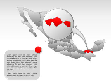 Mexico PowerPoint Map, Slide 38, 00030, Presentation Templates — PoweredTemplate.com
