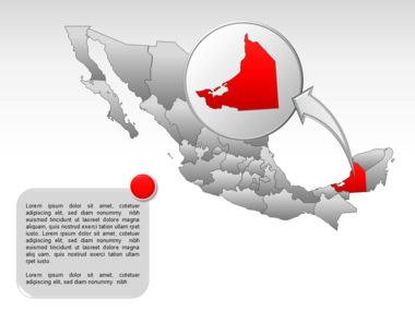 Mexico PowerPoint Map Slide 39