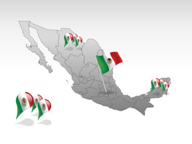 Mexico PowerPoint Map, Slide 4, 00030, Presentation Templates — PoweredTemplate.com