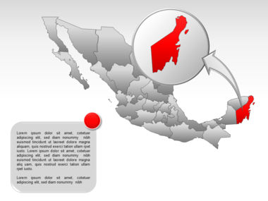 Mexico PowerPoint Map Slide 40