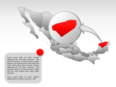 Mexico PowerPoint Map, Slide 41, 00030, Presentation Templates — PoweredTemplate.com