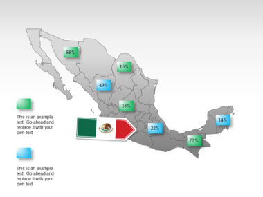 Mexico PowerPoint Map Slide 42