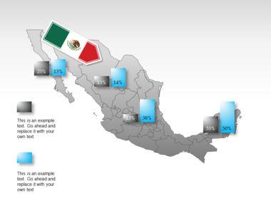Mexico PowerPoint Map, Slide 43, 00030, Presentation Templates — PoweredTemplate.com