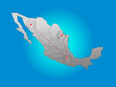 Mexico PowerPoint Map Slide 6