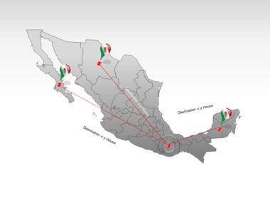 Mexico PowerPoint Map, Slide 7, 00030, Presentation Templates — PoweredTemplate.com
