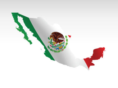 Mexico PowerPoint Map Slide 9