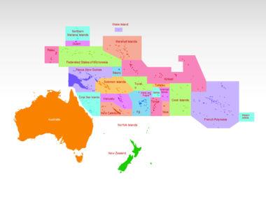 Oceania PowerPoint Map Slide 2