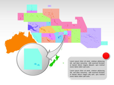 Oceania PowerPoint Map Slide 27