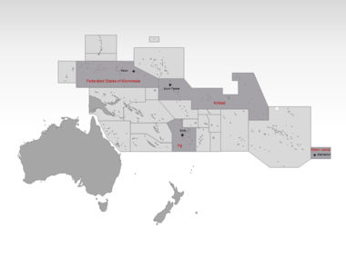 Oceania PowerPoint Map, Slide 3, 00031, Oceania — PoweredTemplate.com