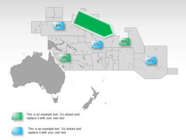 Oceania PowerPoint Map Slide 37