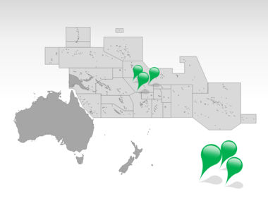 Oceania PowerPoint Map, Slide 4, 00031, Oceania — PoweredTemplate.com