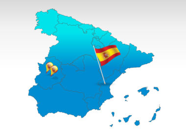 Spain: Spain PowerPoint Map #00032