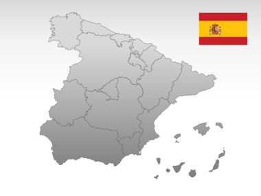 Spain PowerPoint Map Slide 10