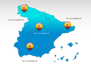 Spain PowerPoint Map Slide 12