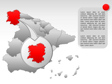 Spain PowerPoint Map Slide 13