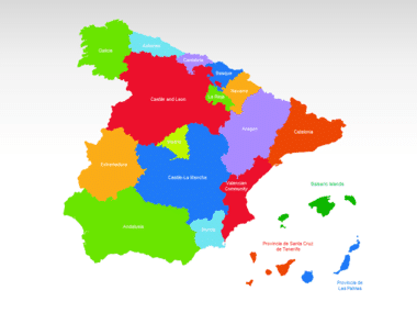 Spain PowerPoint Map Slide 2