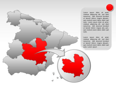 Spain PowerPoint Map Slide 21