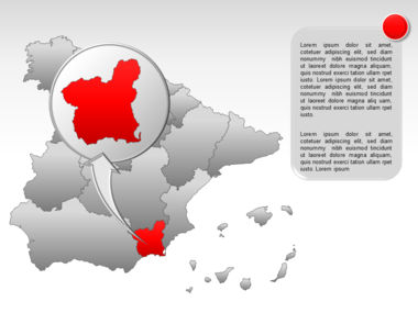 Spain PowerPoint Map Slide 27