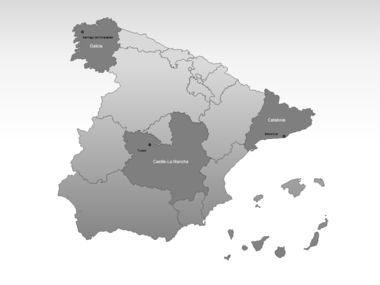 Spain PowerPoint Map Slide 3