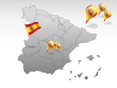 Spain PowerPoint Map Slide 4