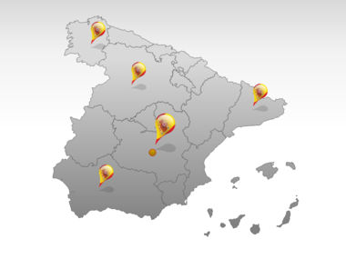 Spain PowerPoint Map Slide 5