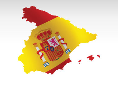 Spain PowerPoint Map Slide 9