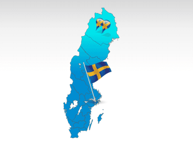 Sweden PowerPoint Map, 00033, Sweden — PoweredTemplate.com