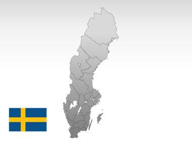 Sweden PowerPoint Map Slide 10