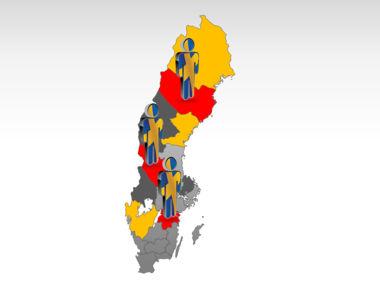Sweden PowerPoint Map Slide 11