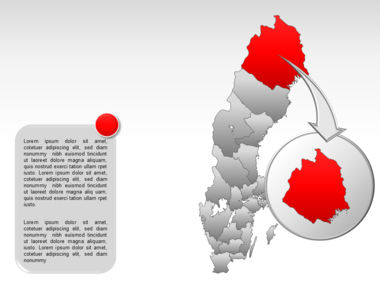 Sweden PowerPoint Map Slide 13