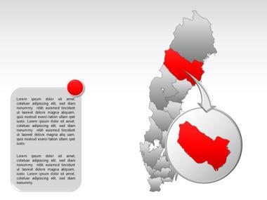 Sweden PowerPoint Map Slide 14