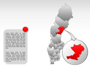 Sweden PowerPoint Map Slide 15