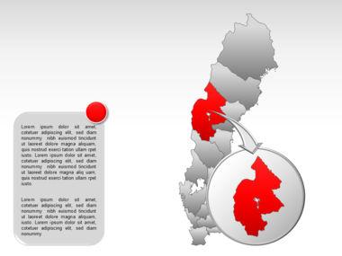 Sweden PowerPoint Map Slide 16
