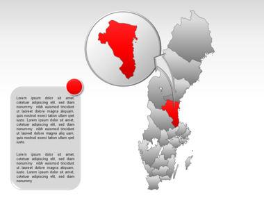 Sweden PowerPoint Map Slide 17