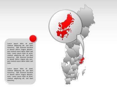 Sweden PowerPoint Map Slide 19
