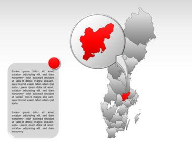 Sweden PowerPoint Map Slide 21