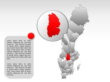 Sweden PowerPoint Map Slide 22