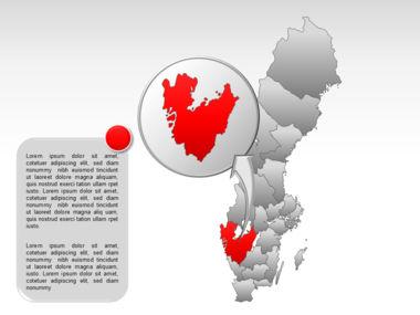 Sweden PowerPoint Map Slide 24