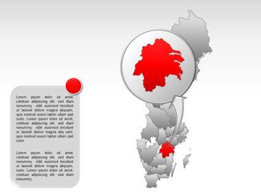 Sweden PowerPoint Map Slide 26