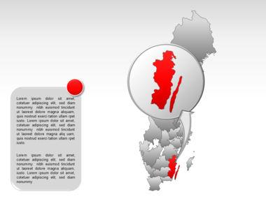 Sweden PowerPoint Map Slide 27