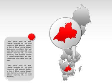 Sweden PowerPoint Map Slide 29